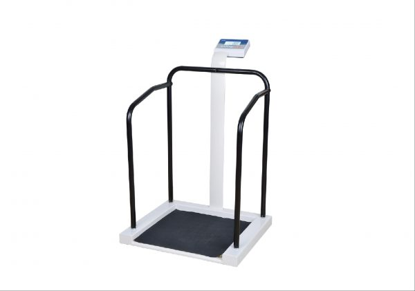Medical Scales: M701 Bariatric Medical Hand Rail Scale. TGA Approved. 300kg Capacity. Includes Height Rod.