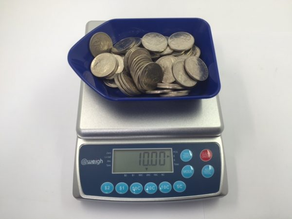 Coin Counting Scales: CS-4 Model with Coin Counter Tray. Count Australian Coins.
